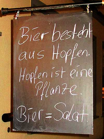 Bierssalat in der Horns & CRONS Bar in Wangen