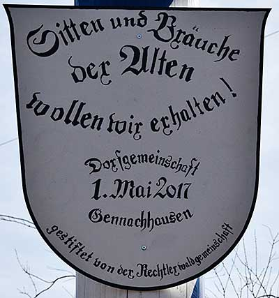 Maibaum 2019 in gennachhausen