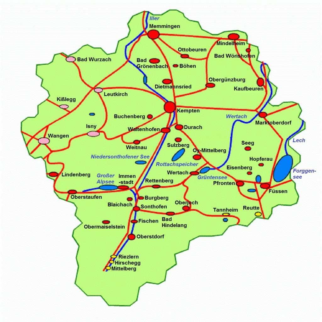 Schwaben Karte Deutschland.Wir Sind Allgäuer Keine Schwaben Staatsgrenze Bayern Baden